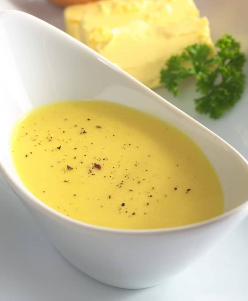 bowl of creamy hollandaise sauce