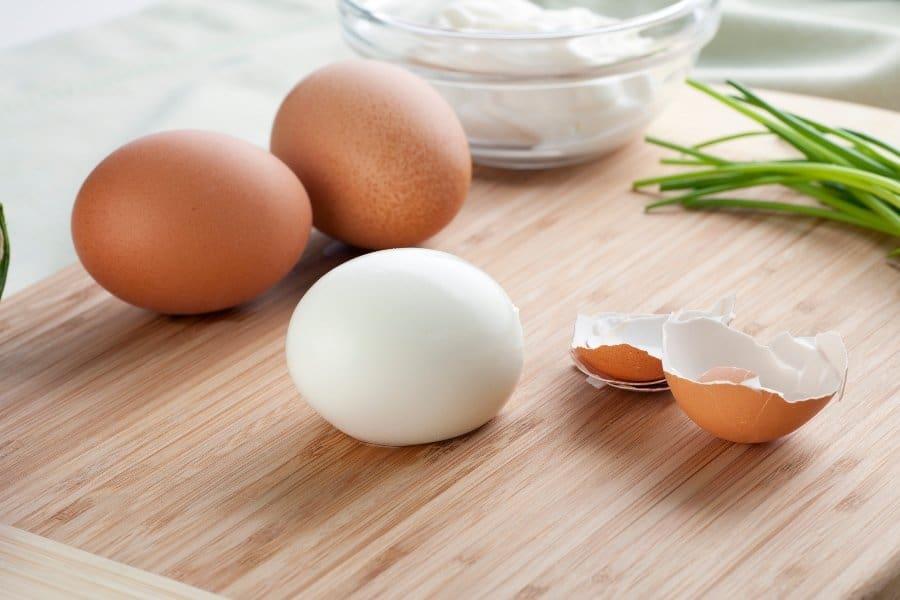 brown boiled eggs