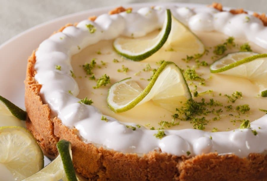 meringue topped Florida key lime pie